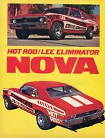 1972 Magazine Pic of Hot Rod The Lee Eliminators Chevrolet Chevy Nova 350 SS