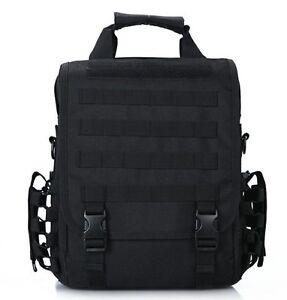 Black Tactical 14 Laptop Computer Carrying Case Backpack Shoulder Bag Molle