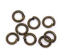 1500 Anneaux de jonction Ouverts Couleur bronze 4mm Dia.