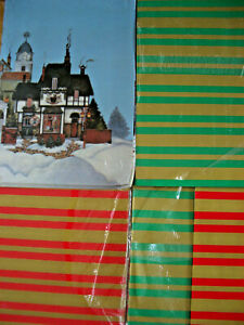 Vintage New & Unused Christmas Paper - Job Lot of x 36 Large Sheets 84 x 59 cms
