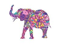 Elephant in Pink & Purple Printed Decal Window/Car/Truck/Sticker