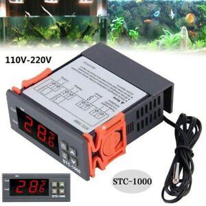 110~220V Termostato Digitale Regolatore Temperatura LCD Con Sonda -50/110℃