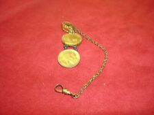 Buffalo Nickel Pocket Watch Fob and Chain with Vest Clip