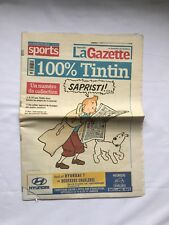 RARE TINTIN Journal 100% TINTIN La Gazette nouvelle 10 janvier 2004 / COLLECTOR