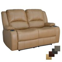 "RecPro Charles 58"" Powered Double RV Wall Hugger Recliner Sofa Loveseat"