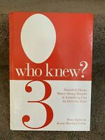 Who Knew? 3  by Jeanne Bossolina-Lubin and Bruce Lubin Money Saving Tip HARDBACK
