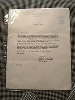 Dean Smith Letter to Carolina Fans August 1, 1994 Non Auto