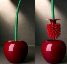 Red Toilettenbürstenhalter Set Cherry Standing WC Reinigung Badezimmerzubehör