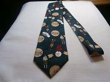 Spalding silk necktie tie antique golfer club tee and logo print Golf Design
