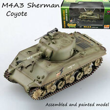 WW2 M4A3 sherman tank US army coyote painting weathering diecast 1/72 Easy model