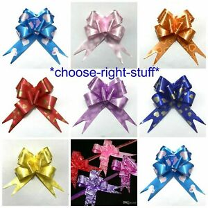 Heart Designs Pull Bows Gift Wrap Wrapping Present Party Car Decor Ribbon Bows