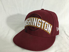 Washington Redskins Burgundy Snapback NFL Football New Era Cap 7-1/4