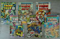 Marvel Comics 70's All Colour Two In One Comic Book Bundle The Thing No. 23 - 28