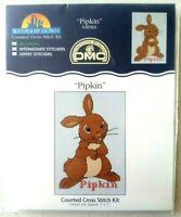 DMC Pipkin Cross Stitch Kit K3819US Watership Down beginners bunny rabbit NIP