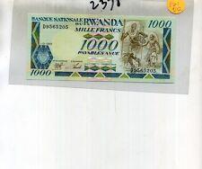 Rwanda 1000 Francs 1989 Currency Note Ch Cu