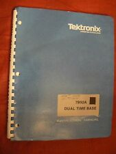TEKTRONIX 7B92A Dual Time Base Instruction Manual w/ Schematics