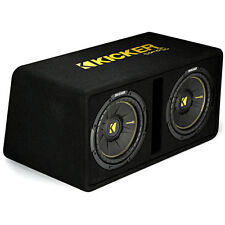 "Kicker CompC 44DCWC102 600W RMS Dual Loaded 10"" Ported Subwoofer Enclosure Box"