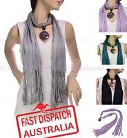 Ladies Fashion Jewellery Seashell Necklace Animal Pendant Skinny Belt Scarf Wrap