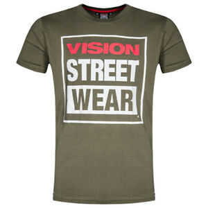 VISION STREET WEAR MENS LOGO TEE 3 COLOURS SIZE L ONLY £13.99
