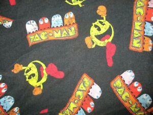 PACMAN PAJAMA PANTS Lounge Sleepwear Pockets Inky Blinky Pinky Clyde MED 32-34