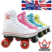 🔥 Kingdom GB Retro All Stars VALKYRIE V2 Women's Girls Quad Roller Skates 🔥