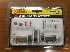 NEW Scenic Accents Street Accessories Woodland Scenics A1941 HO Scale Miniatures