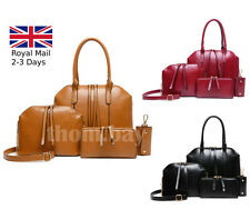 4pcs Ladies Women Designer Leather Style Celebrity Tote Bag Shoulder Handbag