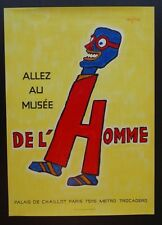 De L'Homme Allez Au Musee / Go to The Museum of Man by Raymond Savignac