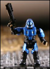 HALO MEGA BLOKS UNSC BLUE SHARK PADPRINT ODST METALLIC SERIES MINI FIGURE 97354