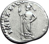 DOMITIAN son of Vespasian 81AD Silver Ancient Roman Coin Athena Minerva i64478