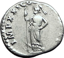 DOMITIAN son of Vespasian 81AD Silver Ancient Roman Coin Athena Minerva i64478