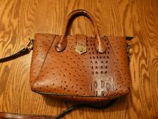 Ladies Hand / Shoulder Bag Brown Tan PVC with Detachable Shoulder Strap NEW