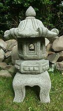 LARGE JAPANESE PAGODA LANTERN Hand Cast Stone Garden Ornament Koi  ⧫onefold-uk