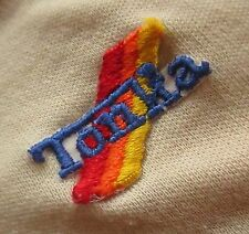 S sz 6-7 True Vtg 70s Boys Relic Worn Tan TONKA TRUCK POLO BUTTON COLLAR SHIRT