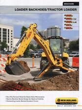 New Holland Loader Backhoes and Tractor Loader Construction Brochure Leaflet