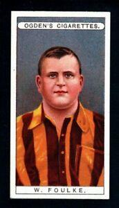 SUPERB OGDENS FAMOUS FOOTBALLERS 1908 W. ( FATTY) FOULKE - CHELSEA