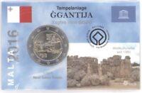 2 Euro Coincard / Infokarte Malta 2016 Ggantija