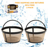 (2) GoldTone Reusable 8-12 Cup Basket Coffee Filters for ALL Mr. Coffee Makers