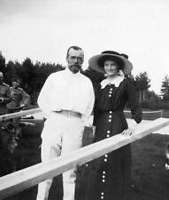 Photo. 1910. Russian Tsar Nicholas II & Daughter