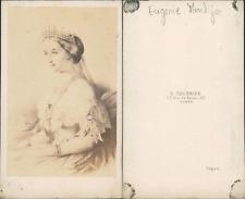 Tournier, Paris, Eugénie Impératrice Vintage CDV albumen carte de visite.D&#03