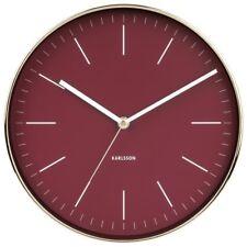 Wanduhr Minimal Aluminium Rot minimalistisch Uhr Quarzuhr Wohnzimmeruhr 27,5 cm