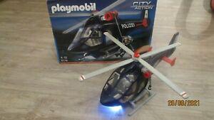 Playmobil Polizeihubschrauber mit LED Suchscheinwerfer 5178