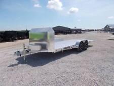 Aluma 8218Tilt ANNIVERSARY Edition Aluminum Tilt bed Car Trailer 18' car hauler