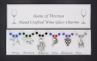 Game of Thrones Set of 6 Wine Glass Charms Handmade Just for You - Set 2 of 3