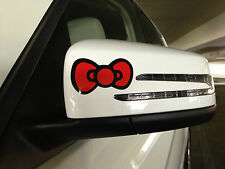 2pcs Hello Kitty Bownot Car Sticker Emblem Label/Window/ LapTop / iPad Stick # 2