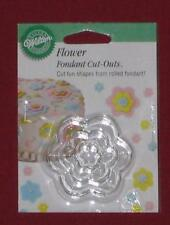 Flower Cut Out,Wilton,Fondant, Gum Paste Cutter Set,Metal,Silver,417-435,3 Pc.