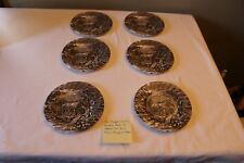 The Georgian Collection Churchill Made In England Set Of 6 Brown Dessert Plates