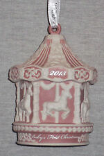Wedgwood Baby'S 1st Christmas Carousel Pink Ornament 2015 New In Box