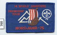 DEALER DAVE Boy Scout 1975 WORLD JAMBOREE FRIENDSHIP TOUR PATCH LILLEHAMMER(760)