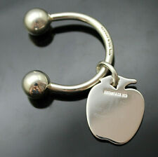 AUTHENTIC TIFFANY & CO SIGNATURE APPLE CHARM STERLING SILVER KEY RING
